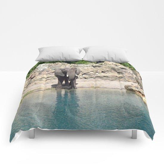 Elephant on the Water Comforters
