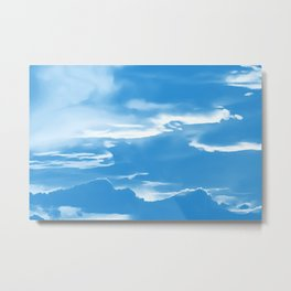 cloudy burning sky reacwb Metal Print
