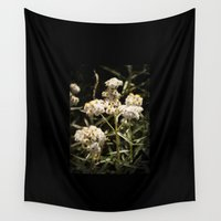 western Wall Tapestries featuring Western Pearly Everlasting by Strange Charm