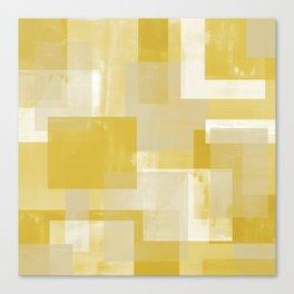 Modern Abstract No. 19 | Citron Canvas Print