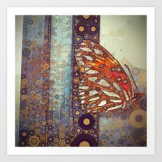 Golden Butterfly Art Print