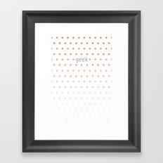 I'm a geek and I love polka dots Framed Art Print