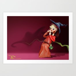 Funny Witch Art Print