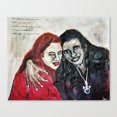 ROUGE ET NOIR Canvas Print