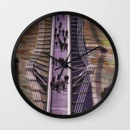 Passing by. Millennium Bridge (London) Wall Clock