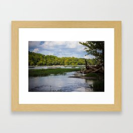 Out on the James Framed Art Print