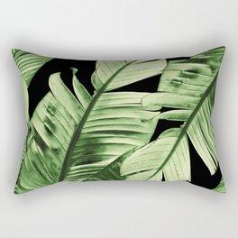 Tropical Banana Night Leaves Dream #1 #tropical #decor #art #society6 Rectangular Pillow