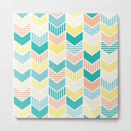 Playful arrows summer Metal Print
