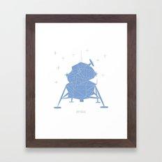 MÅNELANDING Framed Art Print