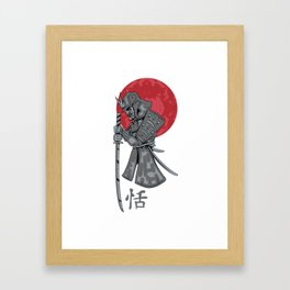 Japanese Samurai Warrior Framed Art Print