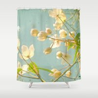 tangled Shower Curtains featuring Tangled by Cassia Beck