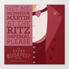 Grand Budapest Hotel - Monsieur Martin Canvas Print