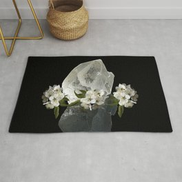 Angelica flower and Crystal Clear Quartz | AZIMA Rug