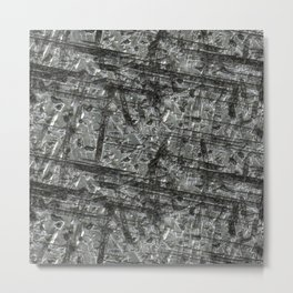 Gouged Stainless Texture Metal Print