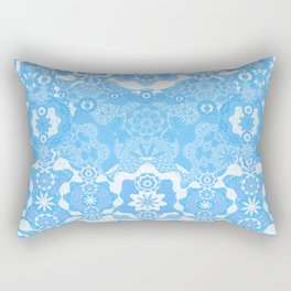 Boujee Boho Delicate Blue Lace Rectangular Pillow