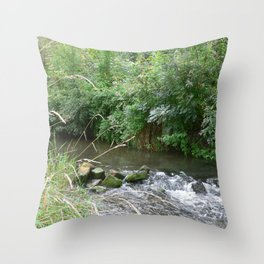 Weser Water Throw Pillow