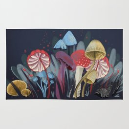 Wild Mushrooms Rug