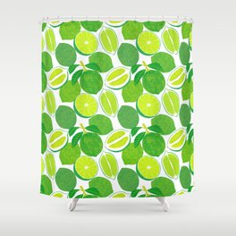 Lime Harvest Shower Curtain