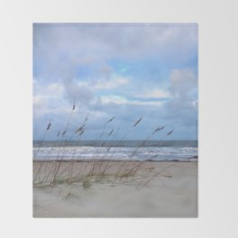 Sea Oats in the Wind Throw Blanket