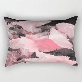 Light Pink Snapdragons Abstract Flowers Rectangular Pillow