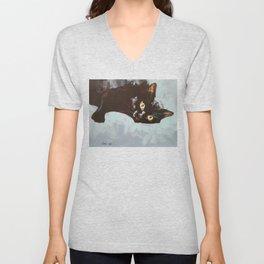 Black Cat Etude II Unisex V-Neck