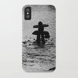 Inukshuk in Saint Élie de Caxton iPhone Case