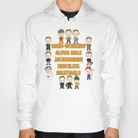 dwight schrute Hoodies featuring Dwight Schrute Two Words by Alex Dutton