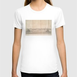 Vintage Pictorial View of Jersey City NJ (1866) T-shirt