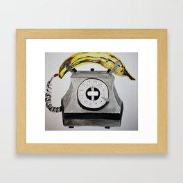 Banana Phone Framed Art Print