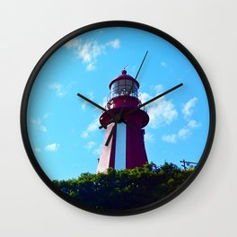 La Martre Lighthouse from Below Wall Clock