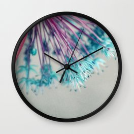 blue allium  Wall Clock