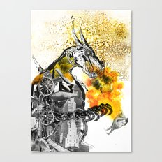 The dynamo and the virgin Canvas Print