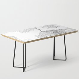 Auckland White Map Coffee Table