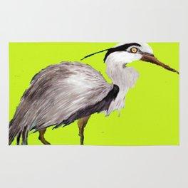 Lime Heron Rug