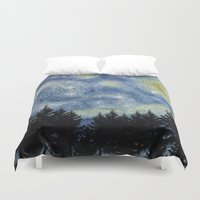 starry night Duvet Covers featuring Starry Night by Astrablink7