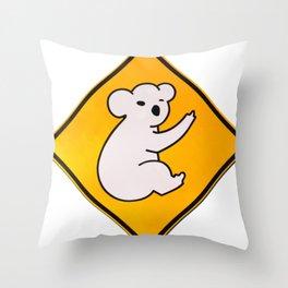 Koala Wid Attitude Throw Pillow