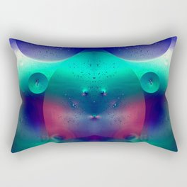 Vibrant Symmetry Oil Droplets Rectangular Pillow