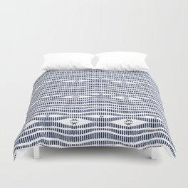 Indigo Pattern - Indigo / Navy & White Duvet Cover