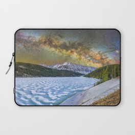 Milky way over Clinton reservoir Laptop Sleeve