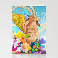 baphomet Stationery Cards featuring Baphomet by rodalume
