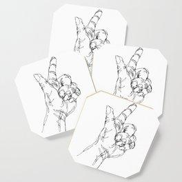 Ink doodle hand #3 Coaster