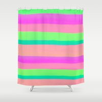 rave Shower Curtains featuring SUMMER'S RAVE by Rebecca Allen