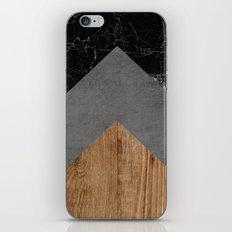 Grey marble wood iPhone & iPod Skin