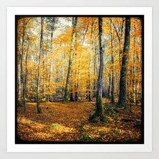 Yellow Trees Art Print