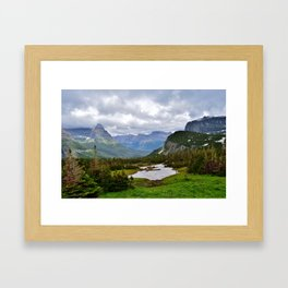 Glacier National Park Going to the Sun Road Framed Art Print