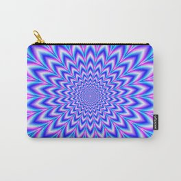 Psychedelic Pulse in Blue and Pink Carry-All Pouch