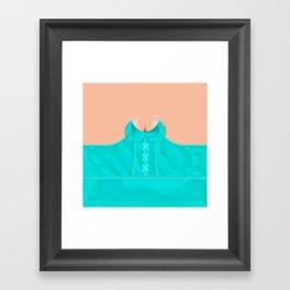 Lingeramas - Sexy Teal Lingerie Top Framed Art Print