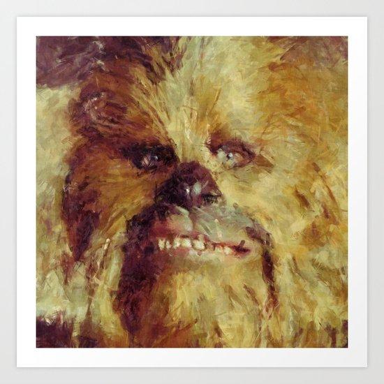 Chewbacca Starwars Character Illustration Art Print