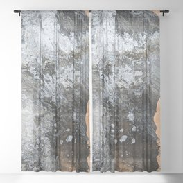 Marble & Copper 2 Sheer Curtain