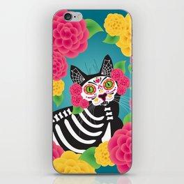 Gatos Dia de los Muertos iPhone Skin